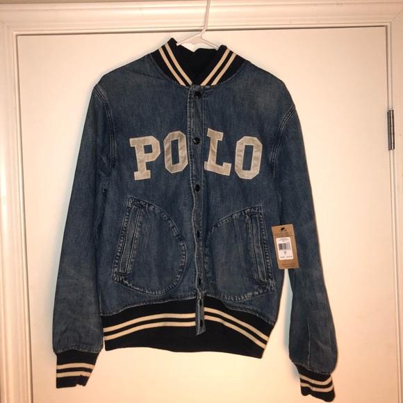 666552c45422 Polo Ralph Lauren Varsity Denim Jacket